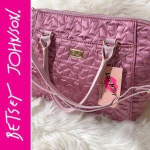 🎀👜 Luv Betsey Johnson Pink Satchel Handbag Purse